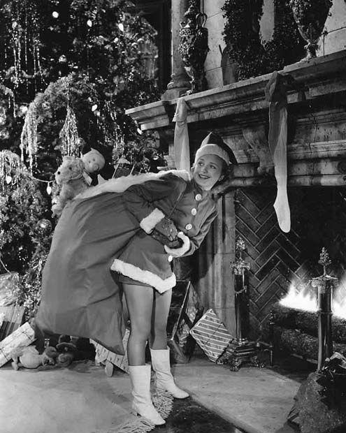 Vintage Hollywood Holiday: Priscilla Lane Decks the Halls, Christmas 1941