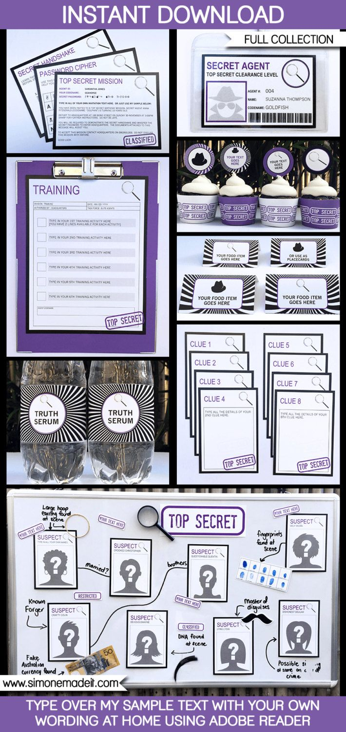 87 best free secret codes images on pinterest coding computers spy party theme invitations decorations full by simonemadeit fandeluxe Images