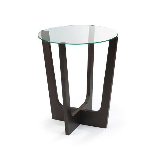 Umbra Stellar Glass Top Wood Side Table By Umbra. $98.90. Contemporary Glass