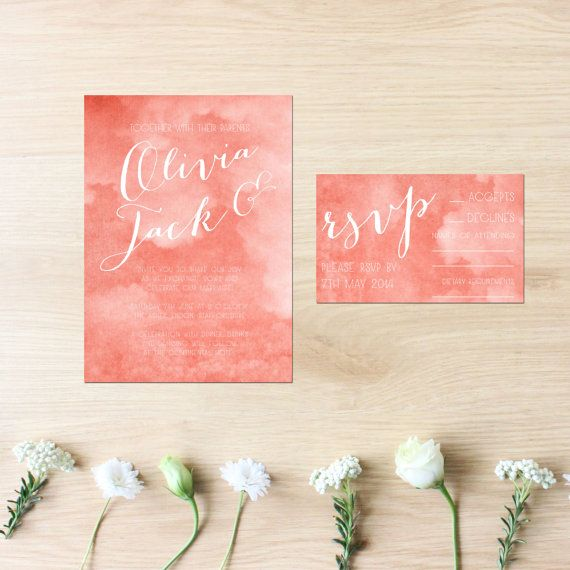 Calligraphy Wedding Stationery Set    { INCLUDES }  - Invitation & envelopes  - RSVP cards & envelopes  - up to 10 revisions    ***optional wishing