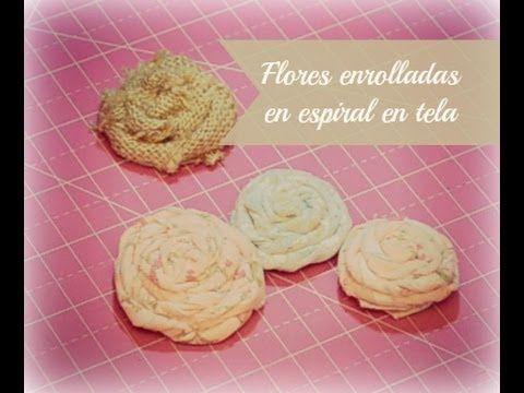 Tutorial para hacer flores con tela, ideal para nuestros trabajos de Scrap, pero también de costura, Home decor, etc...