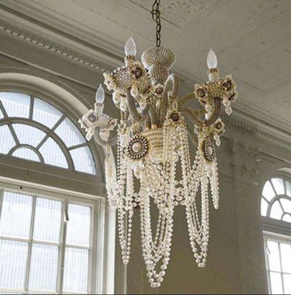 Chandelier Ivory Pearl Garland Decoration Pearl Beads ...