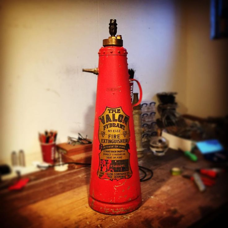 Upcycled 1940's Valor Fire Extinguisher Lamp on it's way to Wandsworth Town, London #upcycle #upcycled #lighting #lightingdesign #industrial #industrialdecor #industrialfurniture  (at Upcycled Creative)