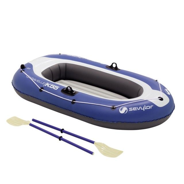 Poze Set barca Carravelle gonflabila KK55 albastru/gri Sevylor