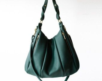 Soft Pebbled Leather Handbag OPELLE Ballet Bag by opellecreative
