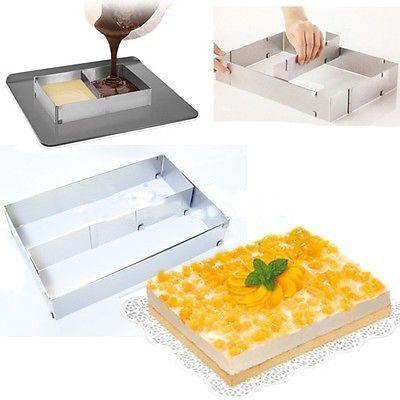 Adjustable Cake Tart Pastry Baking Frame Mould Pro Bakery Tin P