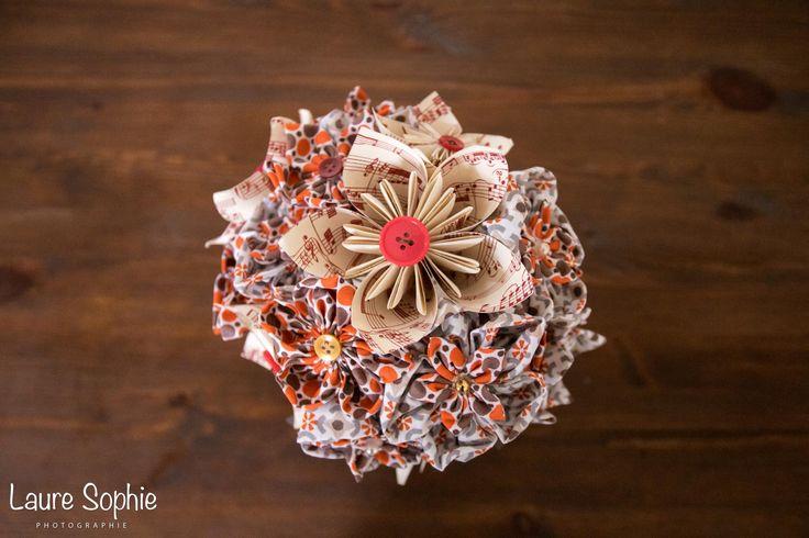 1000 id es sur le th me bouquet en origami sur pinterest for Bouquet de fleurs origami