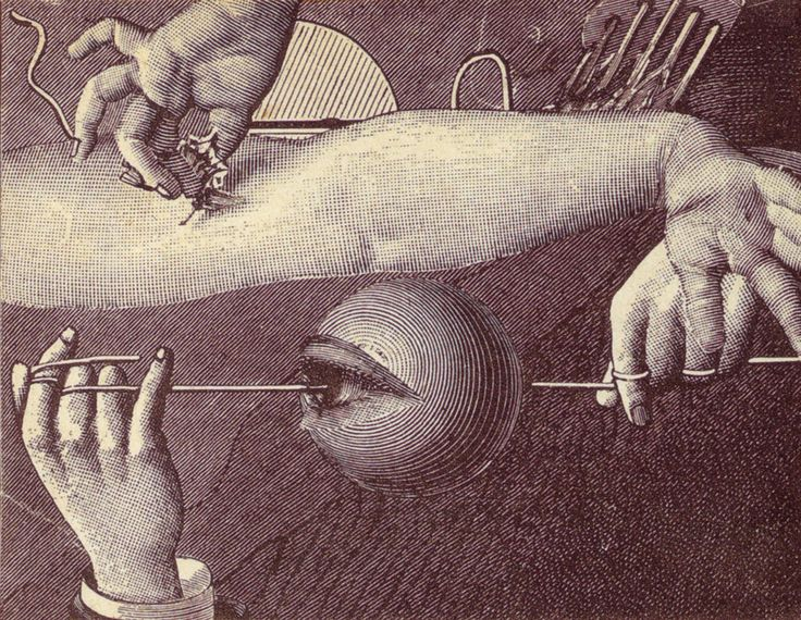 Max Ernst. Cover for Repetitions (1922). *eye is open but it can't see*