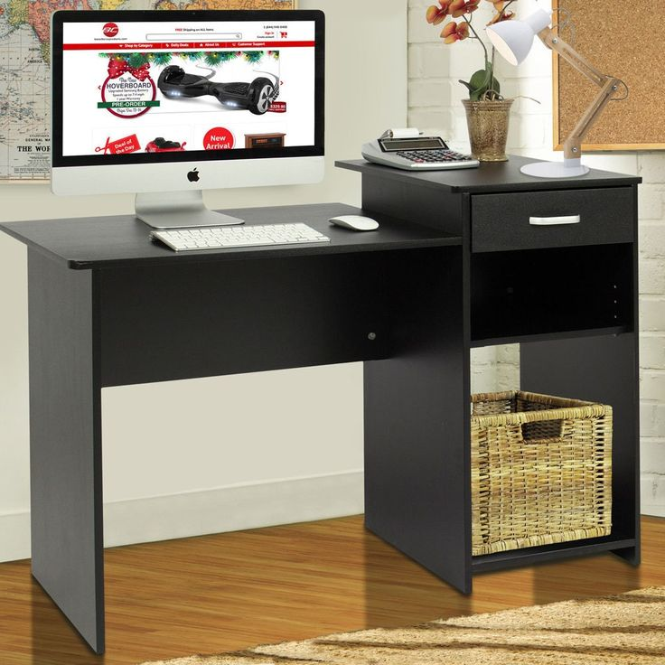 High-quality Integrated Melamine Board Computer Desk with Drawer 8526