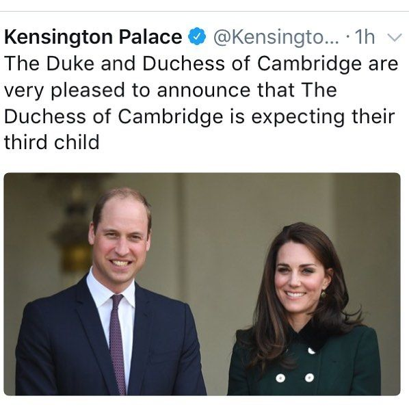 """1,877 Likes, 47 Comments - ⠀⠀⠀⠀⠀⠀⠀⠀⠀⠀DUCHESS OF CAMBRIDGE (@katemiddletonvideos) on Instagram: """"It is official! Kate is expecting a third! """""""