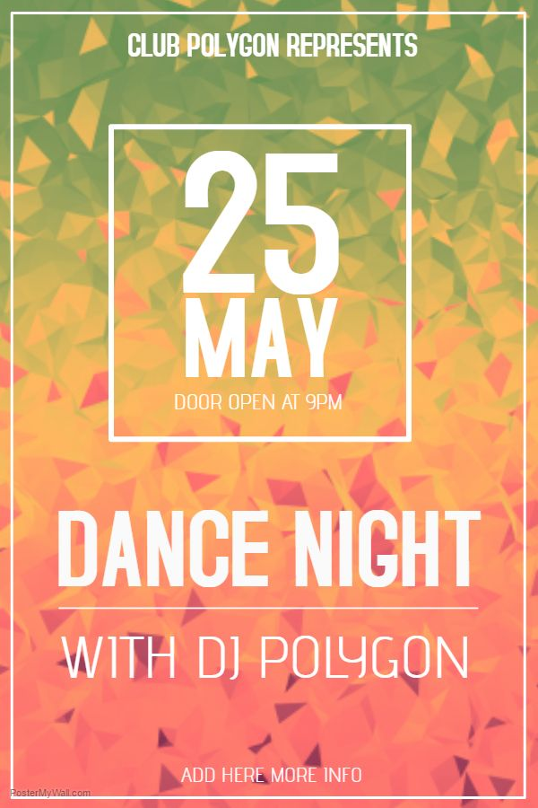Dance Party Event Flyer Template.  Flyer Samples For An Event