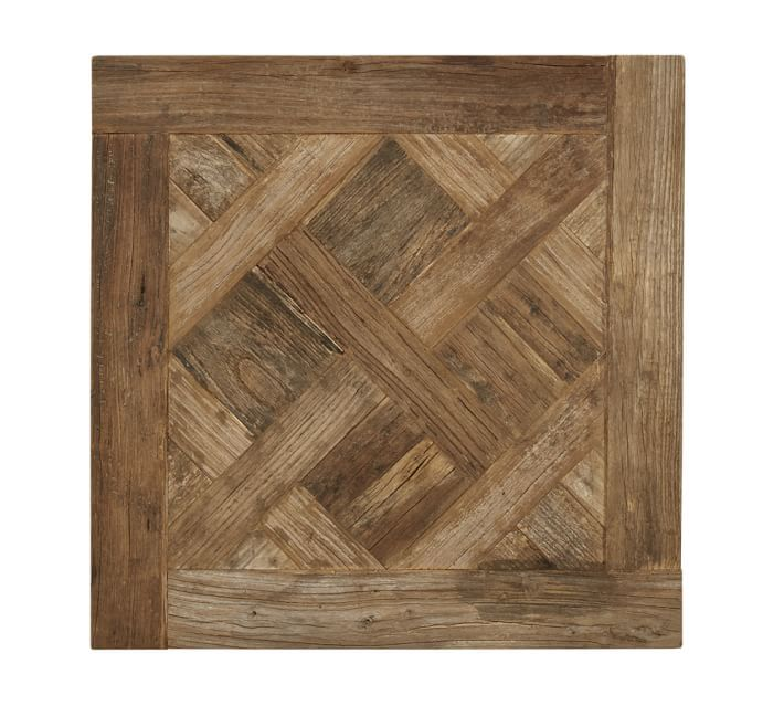 Parquet Reclaimed Wood End Table Reclaimed Wood Side