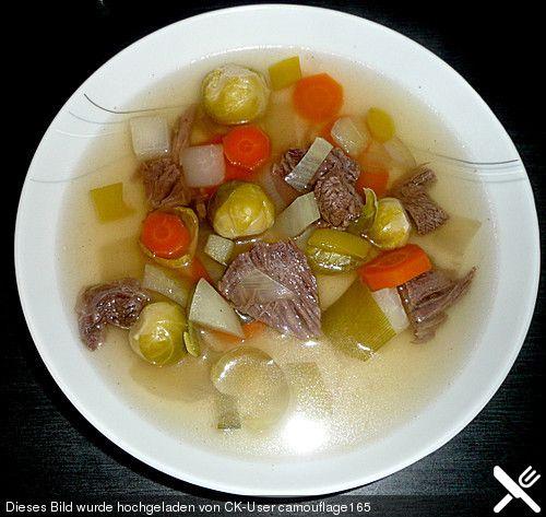 Rinderkraftbrühe mit Gemüse, ein schmackhaftes Rezept aus der Kategorie Klare. Bewertungen: 9. Durchschnitt: Ø 4,3.