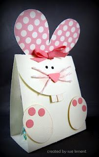 Cute bunny treat bag