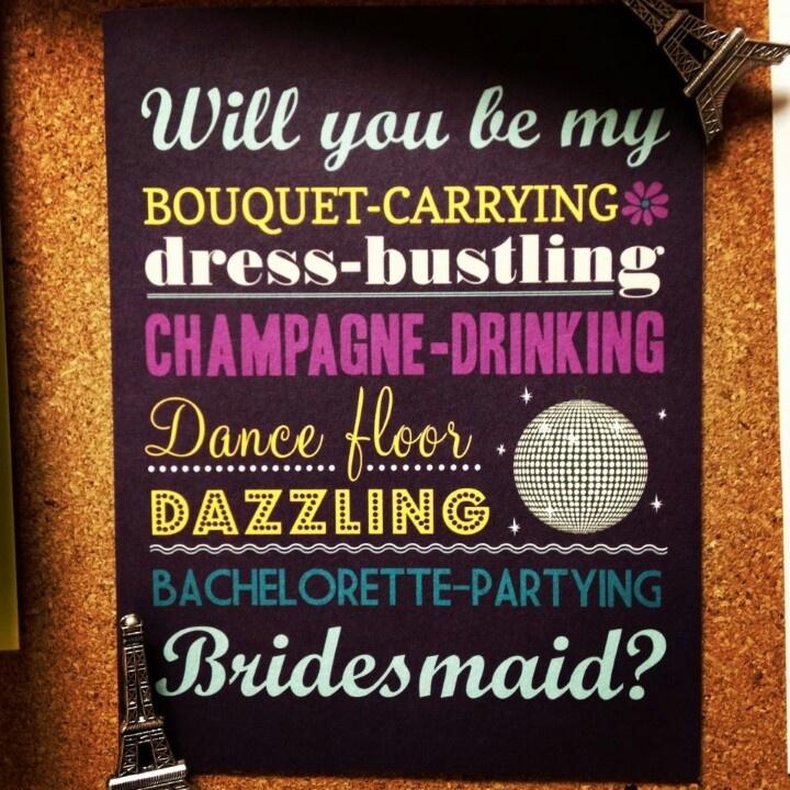 74 best Asking Bridesmaids images on Pinterest   Wedding stuff, Ask ...