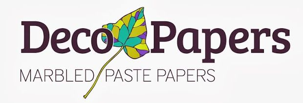 Our logo. You can find us in decopapers@gmail.com , decopapers.blogspot.com.  Handmade decorative papers (marbled- and paste-papers). Athens, Greece