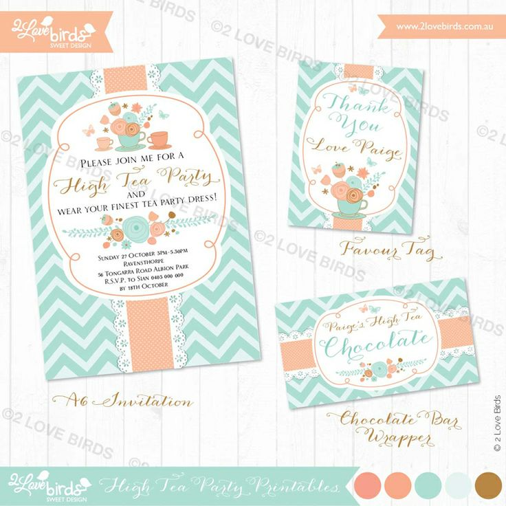Invitation and printables Tea Party supplies and shopping guide | Life's Little Celebrations