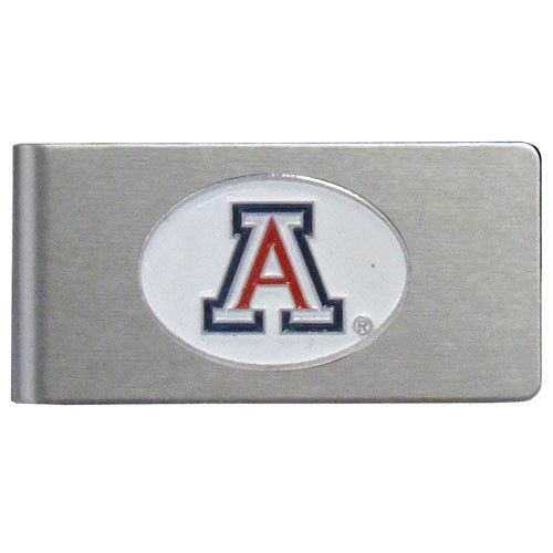 """Checkout our #LicensedGear products FREE SHIPPING + 10% OFF Coupon Code """"Official"""" Arizona Wildcats Brushed Metal Money Clip - Officially licensed College product Brushed metal money clip Strong clip securely holds your cash Makes a great gift for an avid sports fan Money ClipsArizona Wildcats emblem - Price: $15.00. Buy now at https://officiallylicensedgear.com/arizona-wildcats-brushed-metal-money-clip-cbmc54"""
