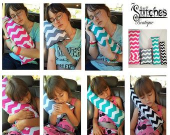 Seat Belt Pillow/Travel Pillow/Carseat by 7StitchesBoutique