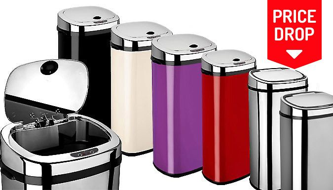 Buy Dihl Rectangle Sensor Bins - 7 Colours UK deal for just: £29.99 Give your trash some class with the Dihl Rectangle Sensor Bins      Activated by a swoosh of your hand      Can help reduce spreading bacteria by avoiding touching the bin lid      Lid automatically closes after five seconds on inactivity       Choose from 5 sizes: 30, 42, 50, 58 and 68L      Available in black, chrome,...