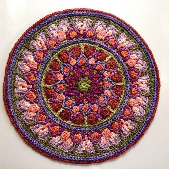 Ravelry: Mint Coffee Mandala Pot holder pattern by Tatsiana Kupryianchyk  $4.50 #crochet