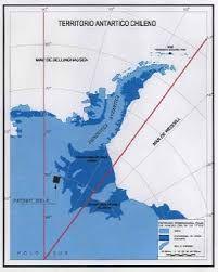 Mapa Antártica chilena