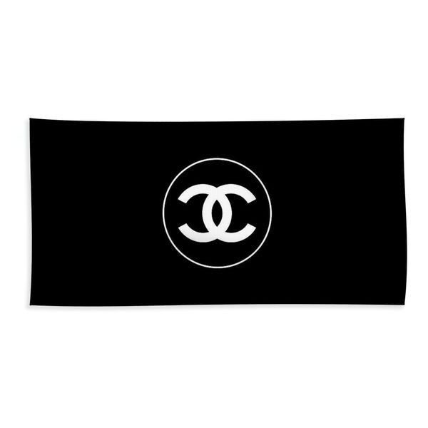 Coco Chanel Beach Towel ❤ liked on Polyvore featuring home, bed & bath, bath, beach towels and chanel