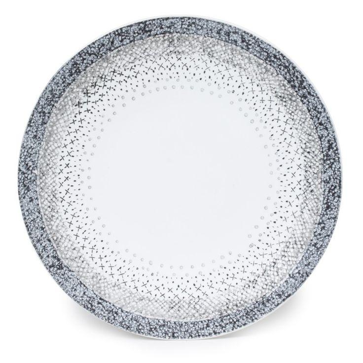 """Plat / assiette plate collection """"Stella"""".  En grès, diamètre 30 cm.  Superbe qualité pour une table raffinée !"""