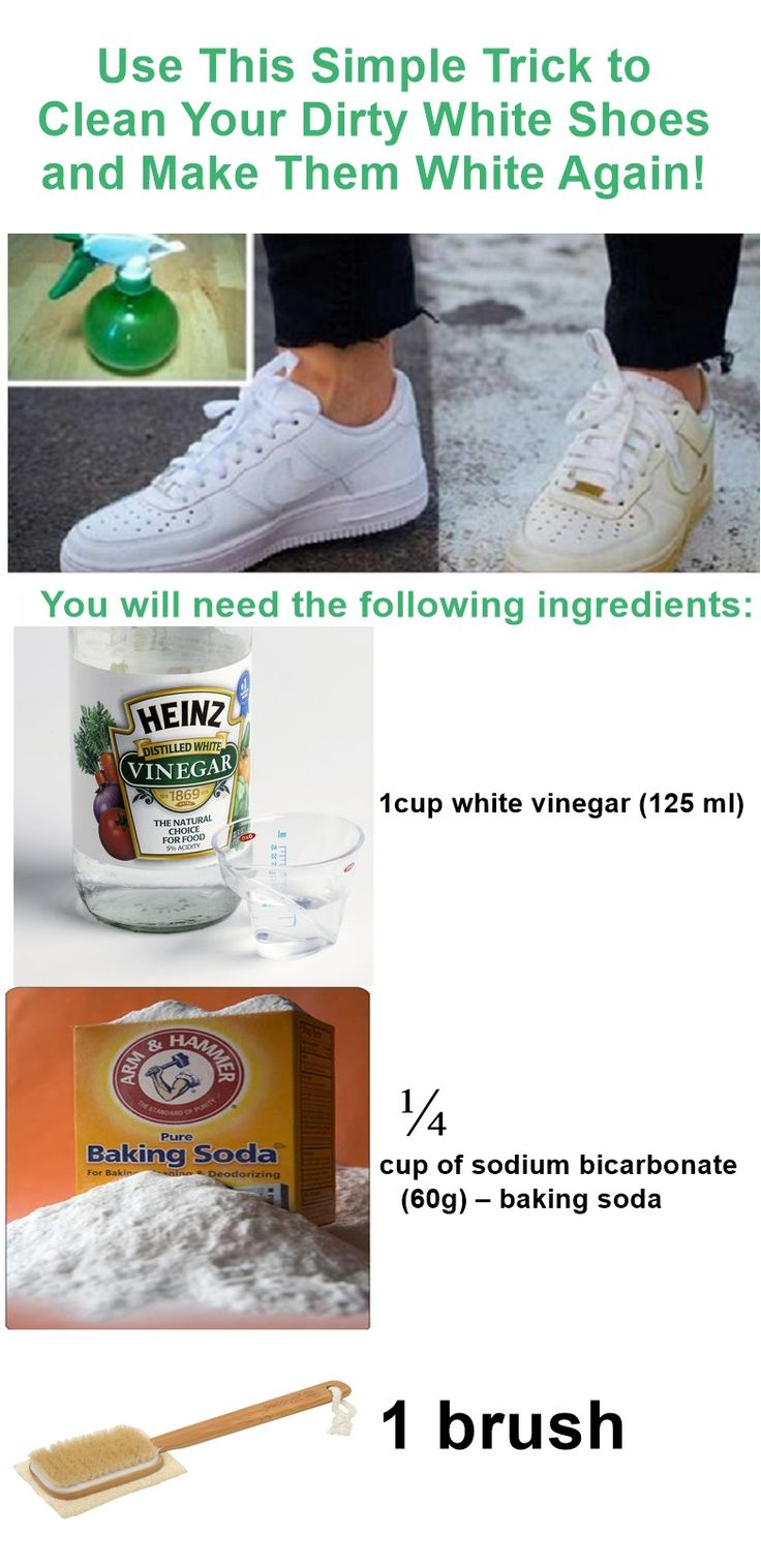 Pinterest: @icristy13| Use This Simple Trick to Clean Your Dirty White Shoes and Make Them White Again!
