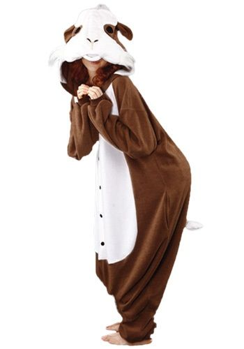This Guinea Pig Pajama Costume is a funny animal costume for adults. Become a favorite pet this Halloween!