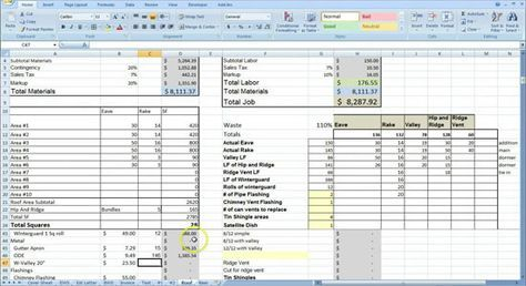 Cost Estimating Sheet with Excel for the General Contractor: http://www.quantity-takeoff.com/cost-estimating-with-excel-for-the-general-contractor.htm