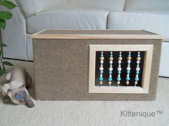 Beaded Cat House. The perfect place for your cat to hide, play and sleep. https://www.etsy.com/shop/Kittenique?ref=l2-shopheader-name
