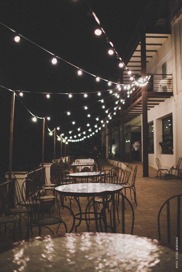 Luces en la terraza