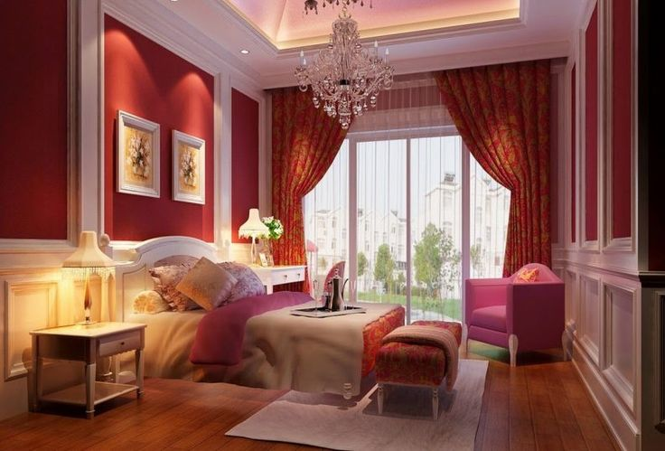 Romantic Bedroom Candles Pink Shade Pendant Lamp Navy Blue Wall Painting Grey Iron Floor Lamp Green Stripped Rug Terrific Ceiling Lamp Fan