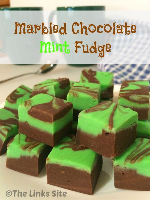 This Fudge is just as delicious as it is pretty! It's an easy microwave fudge recipe with a yummy green marbled mint layer!
