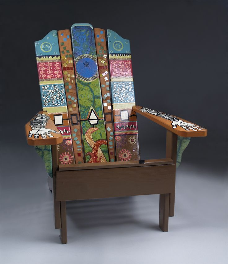 124 best adirondack chairs images on pinterest painted - Adirondack style bedroom furniture ...