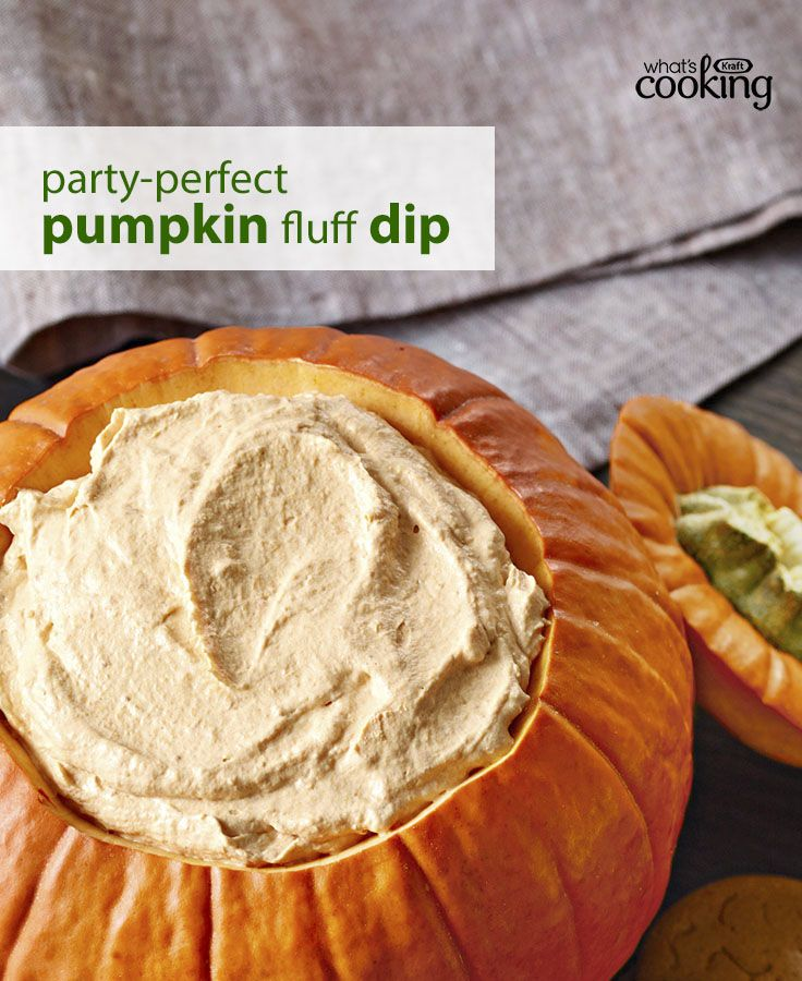 Hosting a Halloween bash, a harvest feast or a Thanksgiving meal? This tasty dip dresses up your table nicely. Click or tap the photo for this Pumpkin Fluff Dip #recipe.