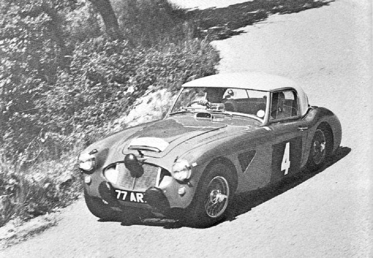 1961 Alpine Rally: Pat Moss, 3rd, works Austin-Healey 3000