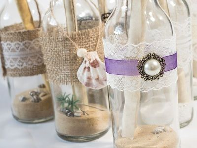 stylish hand made message in a bottle invitations perfect for weddings birthdays - Message In A Bottle Wedding Invitations