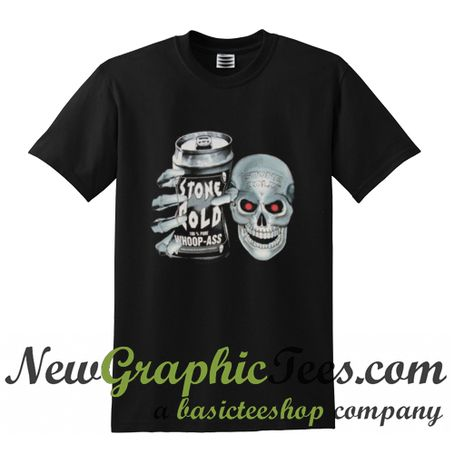 Stone Cold Steve Austin 100% Pure Whoop Ass Skull T Shirt
