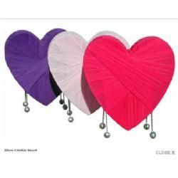 Crinkle Heart Table Lamp