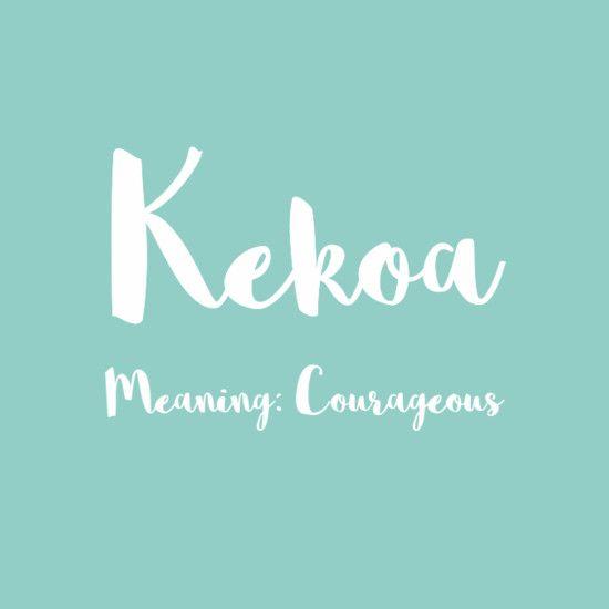 Kekoa - Simply Adorable Hawaiian Baby Names for Girls - Photos