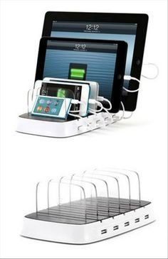 Tablet and phone charging station and storage