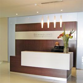 counter desk reception desk at a law firm in melrose arch mahogany veneered desk bridge reception counter office line