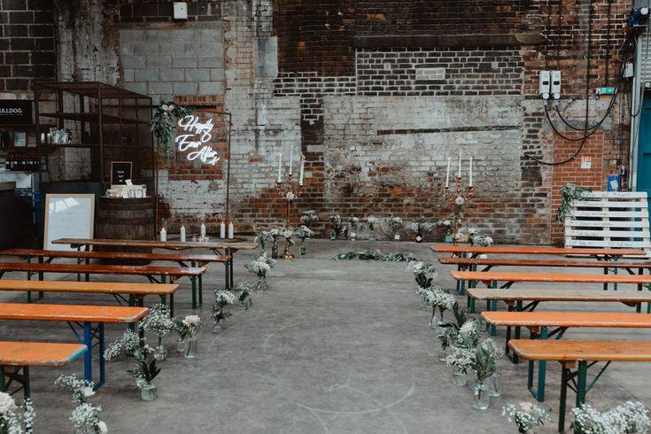 92 Burton Road Wedding Indie Industrial Warehouse Warehouse Wedding Whimsical Wonderland Weddings Alternative Wedding Inspiration