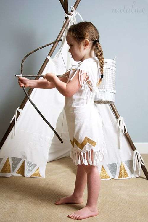 Upcycled t-shirt Teepee and Pocahontas dress