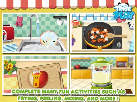 Dr Panda's Restaurant - We love cooking games for pretend pay. Make many dishes for your restaurant customers. Wash dishes, sort recycling and set the table. $1.99