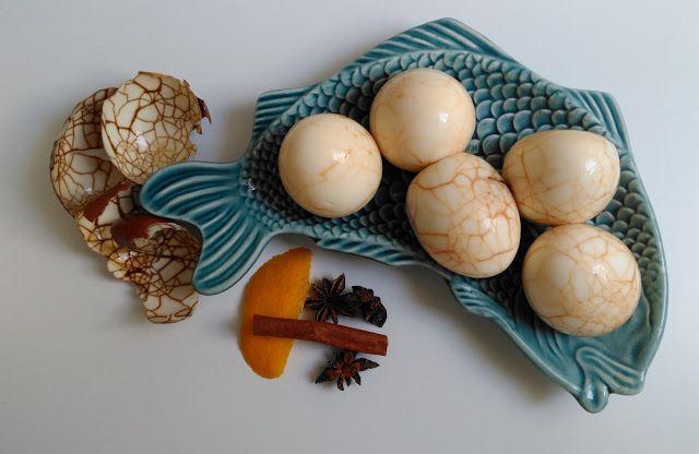 inspiracionistas: Ovos marmoreados chineses