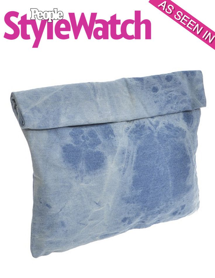 Obsession Alert!! Denim Roll-Over Clutch Bag - As seen in People Style Watch by My Jewel Candy
