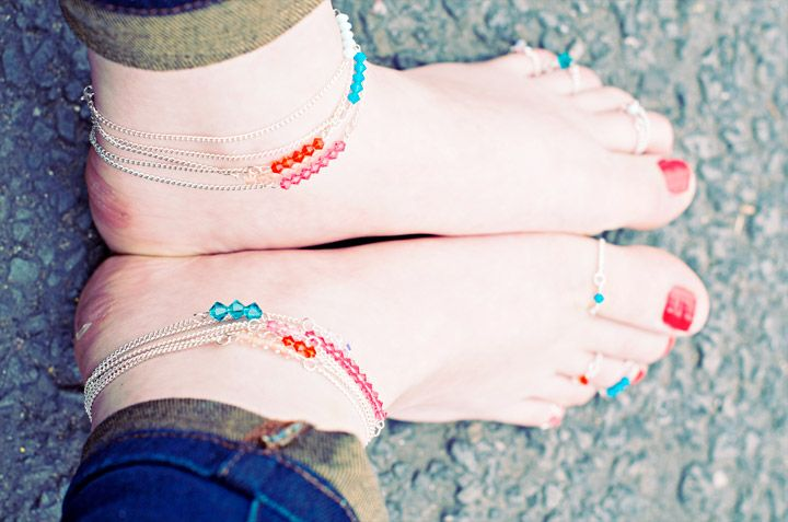 Swarovski Anklets and Toe Rings